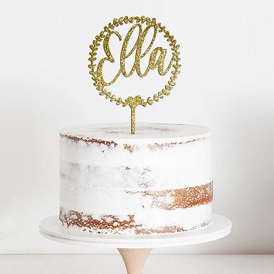 CakeTopper - Tortenstecker Geburtstag - Birthday Kranz - Wreath
