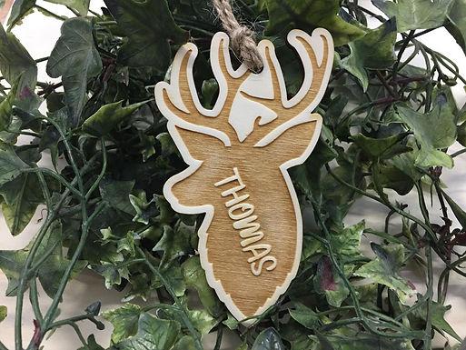 Weihnachtsbaum Deko - Hirsch - Geweih