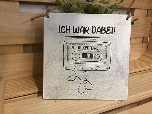 80er - MIX Tape - Mixed Tape - Kasette - Graviertes Holzschild