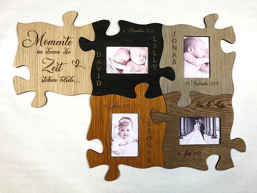 Puzzle Bilderrahmen aus Holz