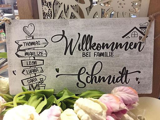 Wegweiser Familien Schild - Willkommen Schild - Personalisiert