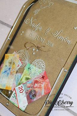 Hochzeit Geschenk - Mason Jar für Geld Geschenk