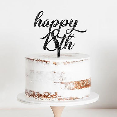 CakeTopper - Tortenstecker Geburtstag - Birthday happy 18th Style 2