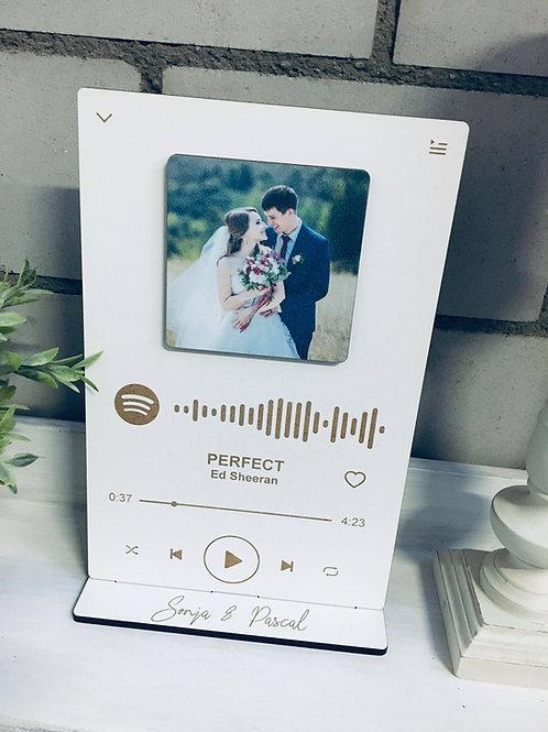 Personalisierte Spotify Album Cover - Dein Lieblingssong - Musiktafel