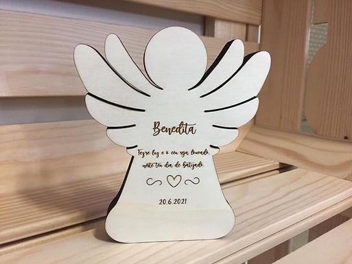 Holz Engel - Geldgeschenk - Personalisiert - Taufe - Geburt