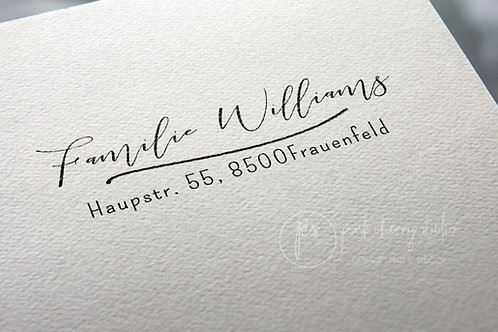 Adresstempel - Typo 55 - Familienstempel