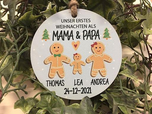 Gingerbread Family - Weihnachtsbaum Deko