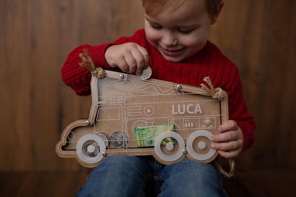 Kinder Sparkässeli - Spardose - Sparkasse - Sparbüchse Personalisiert