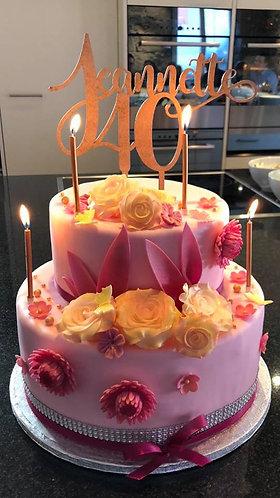 """CakeTopper - Tortenstecker """"Geburtstag"""" Name und Alter"""