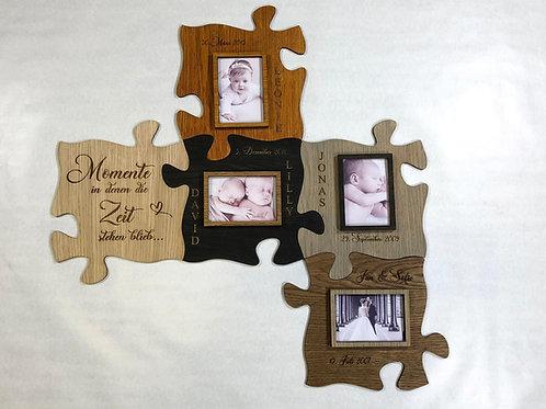 Puzzle Bilderrahmen aus Holz mit 3D Effekt