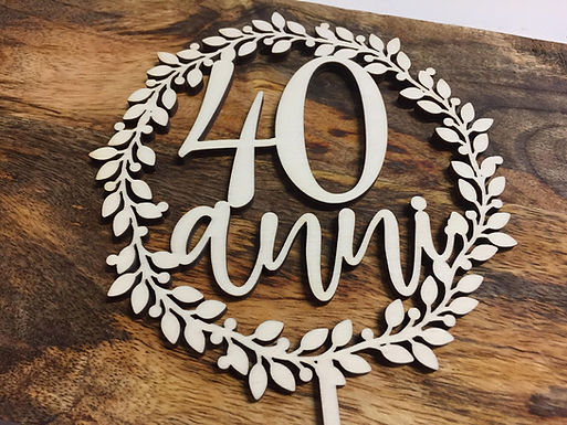 40 anni - Geburtstag - Tortenstecker - Cake Topper