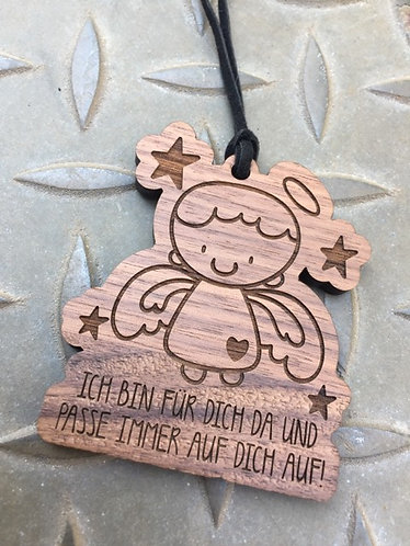 Holzanhänger - Schutzengel - Junge