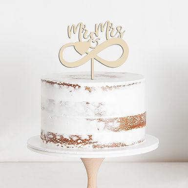 """CakeTopper - Tortenstecker """"Infinity"""" Mr & Mrs"""