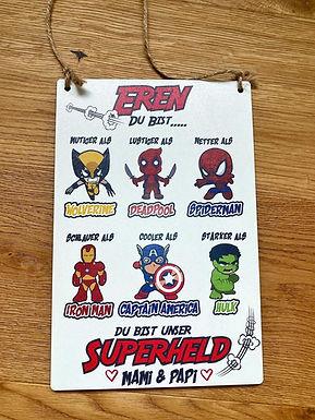 Superhelden Prinzessinen Schild -  Personalisiert