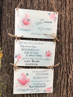 Geburtsbild - 3 Schilder - Geh dein weg - Personalisiert