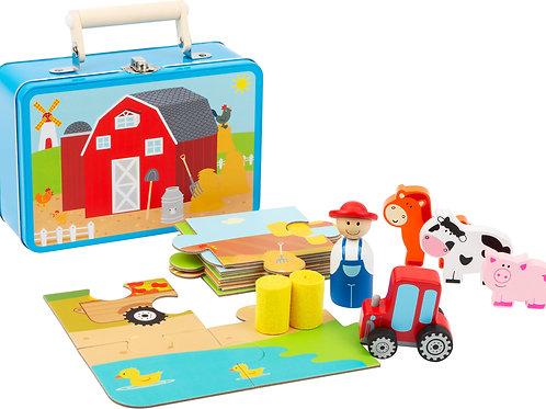 Bauernhof-Spielset im Koffer