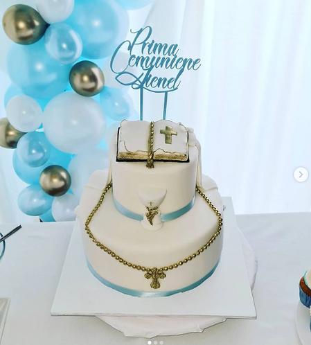 Prima comunione - Personalisiert - Torten Stecker - Cake Topper