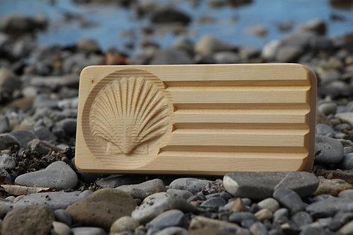 Seifenschale aus Holz - Double - Muschel