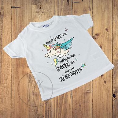Kinder T-Shirt - Einhorn - Wenn ich Sauer bin ziehe ich mir meinen Umhang an