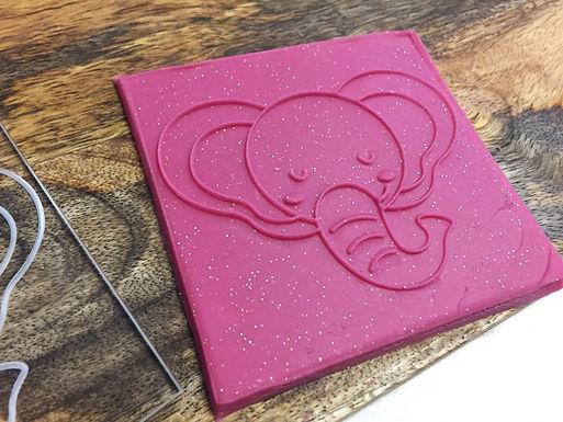 Cookie Stamp - Little Elephant - Elefant - Baby Shower - Positiv Druck