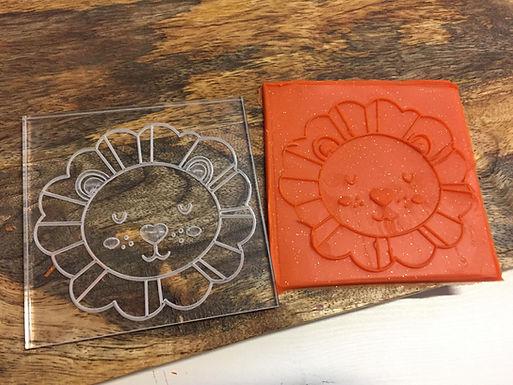 Cookie Stamp - Little  Lion - Löwe - Positiv Druck