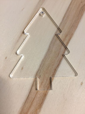 Acryl Rohling - Acrylic Blanks - Weihnachtsbaum - Tannenbaum