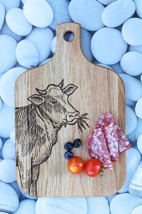Servier / Schneidebrett - Kuh