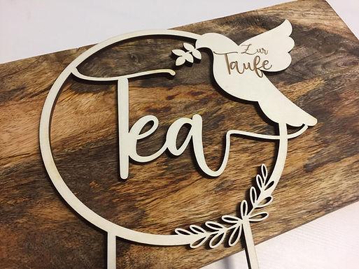 ZUR TAUFE - Taube - Personalisiert - Tortenstecker - Cake Topper Individuell