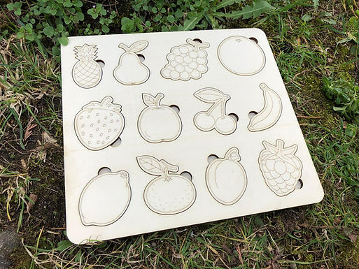 DIY Montessori Pädagogisches Puzzle - Früchte