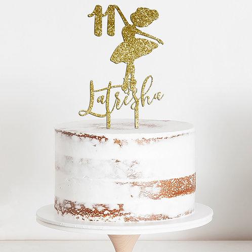 CakeTopper - Tortenstecker Ballerina - Geburtstag - Birthday Personalisiert