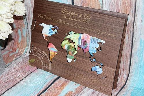 Holzkarte - Hochzeit Geldgeschenk
