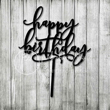 CakeTopper - Tortenstecker happpy birthday