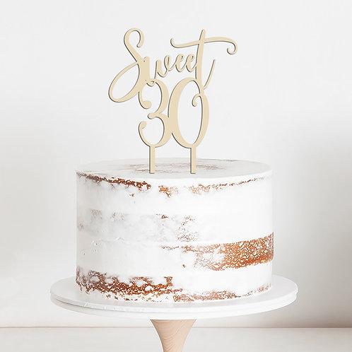CakeTopper - Tortenstecker Geburtstag - Birthday Sweet 30