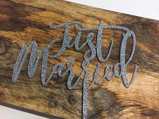 Just Married-  Torten Stecker - Cake Topper