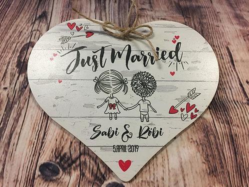Just Married - Herz Personalisiert