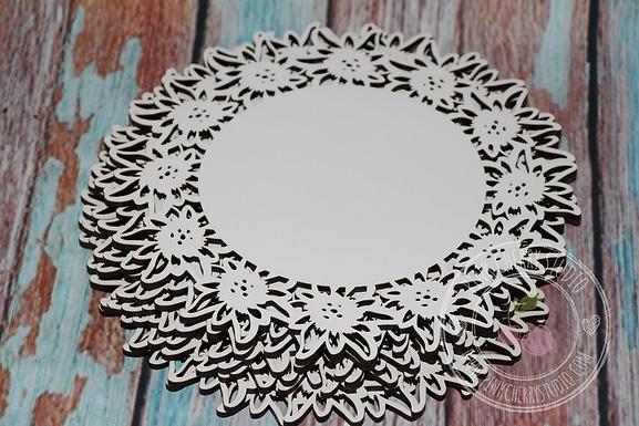 Edelweiss Teller / Unterteller aus Holz