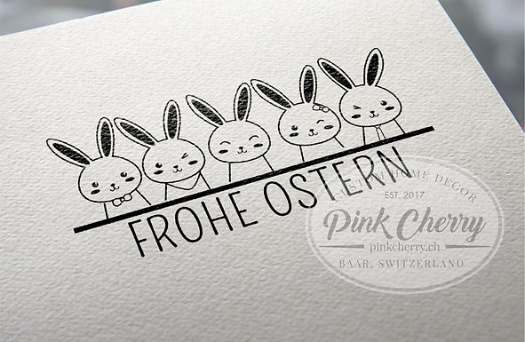 Holzstempel - FROHE OSTERN - Hasen