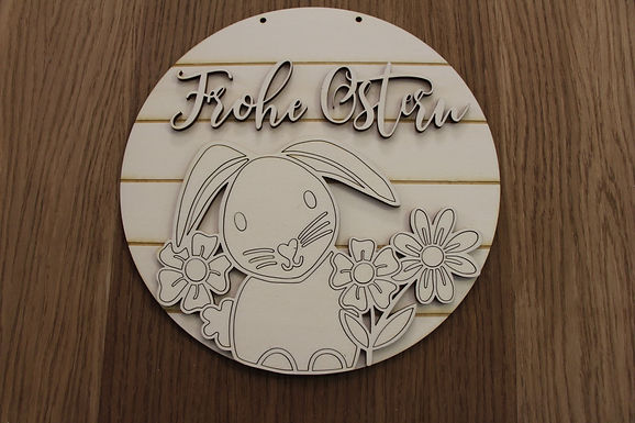 DIY Oster Schild Hase - Frohe Ostern