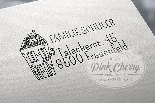 Adresstempel - Haus Typo 50