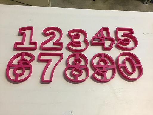 Cookie Cutter Zahlen
