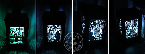 Personalisierte Rustikale Laterne/Lampe - Memory Lamp