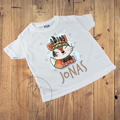 Kinder T-Shirt - BOHO - Fuchs - Indianer - Personalisiert
