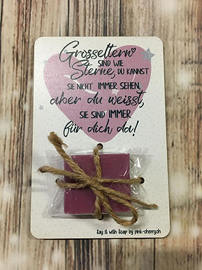 Say it with Soap - Holzkarte mit Seife - GROSSELTERN