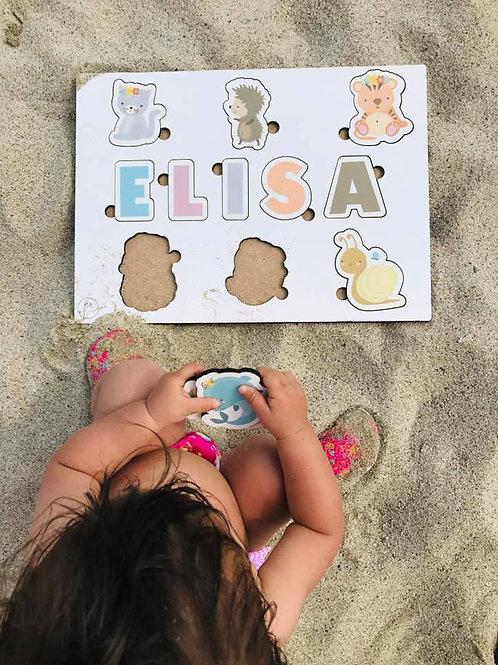 Kinderpuzzle aus Holz - Personalisiert