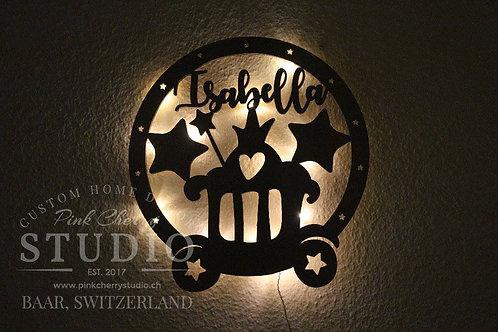 LED Nachtlicht Prinzessin Kutsche