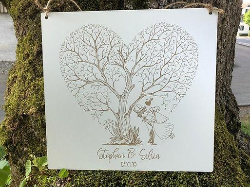 Herz Baum - Hochzeitspaar - Personalisiert