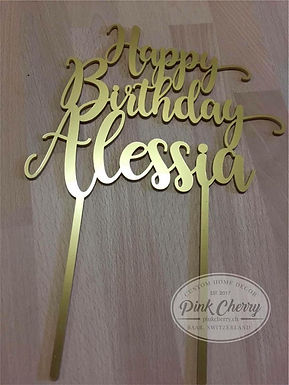 Happy Birthday Cake Topper- Personalisiert mit Name