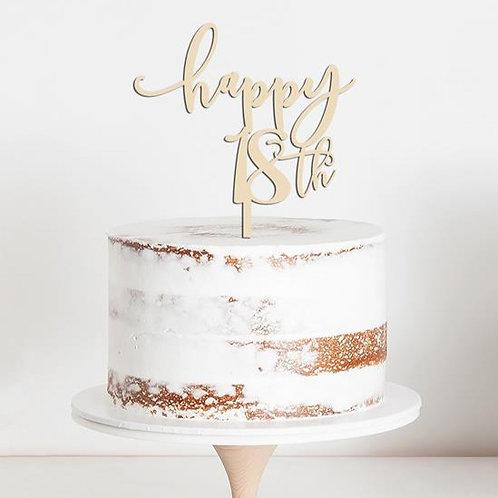 CakeTopper - Tortenstecker Geburtstag - Birthday happy 18th Style 1