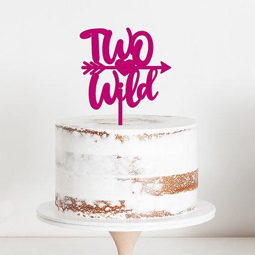 TWO WILD - ARROW - PFEIL - GEBURTSTAG CAKE TOPPER TORTEN STEKCKER