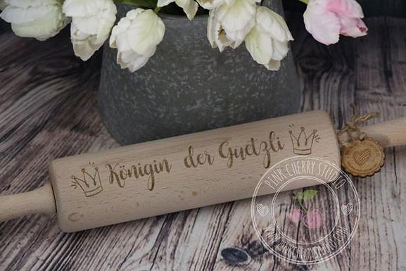Teigroller / Nudelholz einseitig Graviert